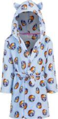 My Little Pony fleece badjas blauw met capuchon voor kinderen - Blauwe ochtenjas met ceintuur en capuchon met oortjes voor meisjes 98 (3 jaar)