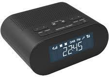 Zwarte Denver CRD-505, DAB+ Clockradio met USB voor opladen smartphone