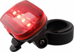 Blokstore Fietsverlichting Inclusief batterijen | ROOD Achterzijde| 5 ledlampjes |Veiligheid Lampjes |Snelle levering in nederland