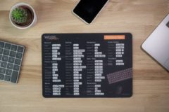 Zwarte Worksmarter Sublime Text Shortcut Mousepad - Normal - Windows