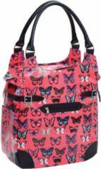 Willex Shopper Enkele Fietstas - 16 liter - Fuchsia Butterfly