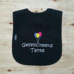"""Onze Miep Zwarte slab met de tekst: """"Gefeliciteerd tante"""""""