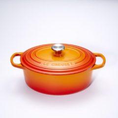 Le Creuset Gietijzeren ovale braadpan in Oranje-rood 29cm 4,7l