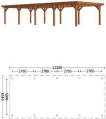 Zwarte Van Kooten Tuin en Buitenleven Overkapping Toscane 1230x545 cm