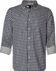 Scotch & Soda geruit regular fit overhemd donkerblauw