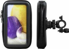 Shop4 - Samsung Galaxy A72 Fietshouder Stuur Spatwaterdicht Zwart