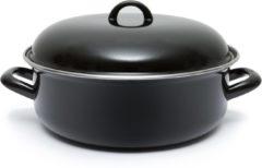 Merkloos / Sans marque Imperial Kitchen Braadpan - 28 cm - Emaille - Zwart
