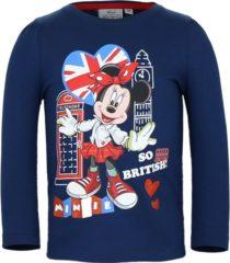 Blauwe Bellatio Minnie Mouse t-shirt blauw voor meisjes 128