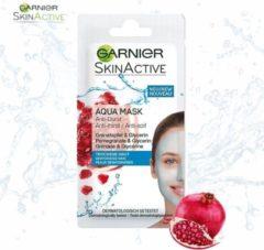 Naturelkleurige Garnier Skinactive Face Anti-dorst Hydraterend Aqua Mask - Granaatappel en Glycerin