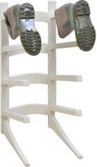 Roestvrijstalen Laarzenrek staand in hout - 8 laarzen