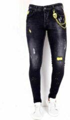 Local Fanatic Exclusive Slim fit Jeans Stretch Heren - 1003 - Zwart - Maten: 38