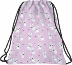 Roze BackUP Gymbag Hertjes - 45 x 35 cm - Polyester