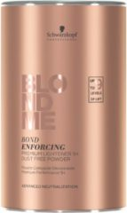 Blauwe Schwarzkopf Professional Schwarzkopf - Blond Me - Bond Enforcing Premium Lightener 9+ Dust Free Powder - 450 gr