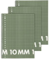 HEMA Collegeblok A4 - Geruit 10 X 10 Mm - 3 Stuks