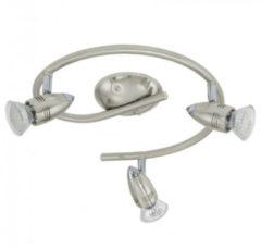 Roestvrijstalen EGLO Magnum - Plafondspots - 3 Lichts - Ø255mm. - LED - Nikkel-Mat, Chroom