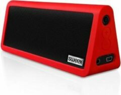 Rode Sweex Bluetooth Portable Stereo Speaker Rock Star Red