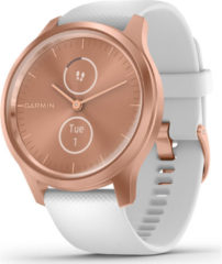 Goudkleurige Garmin Vivomove Style - Smartwatch dames - 42 mm - Rozegoud/wit