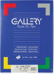 Gallery Witte Etiketten Ft 99,1 X 38,1 Mm (B X H), Ronde Hoeken, Doos Van 1.400 Etiketten