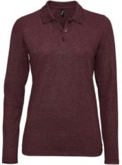 Paarse Polo Shirt Lange Mouw Sols PERFECT LSL COLORS WOMEN
