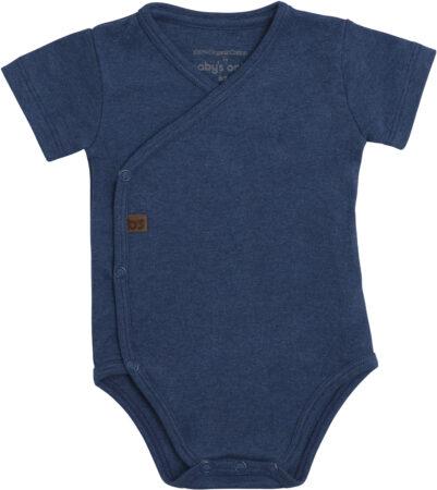 Afbeelding van Baby's Only Rompertje Melange - Jeans - 68 - 100% ecologisch katoen - GOTS