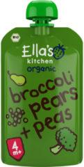 7x Ella's kitchen Knijpzakje 4+ m Peer Broccoli Erwten 120 gr