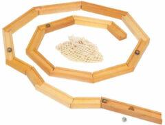 Glückskäfer knikkerbaan 19 cm blank hout 23-delig
