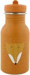 Drinkfles Mr. Fox - 350 ml Stainless steel - Trixie Baby - Oranje