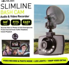 Zwarte Soundlogic full HD dashcam