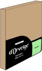 Zandkleurige D'Orveige Hoeslaken Katoen - Twijfelaar - 120x200 cm - Zand