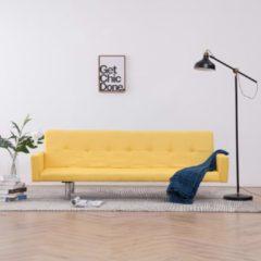 VidaXL Slaapbank met armleuning polyester geel