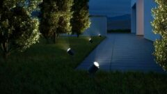 Antraciet-grijze Steinel Spot Garden LED-Buitenspot - Bewegingsmelder - Bluetooth - 7W