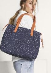 Hessnatur Damen Canvas-Tasche aus Bio-Baumwolle – blau – Größe 1size