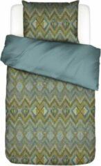 ESSENZA Fabienne - Dekbedovertrek - Groen - Lits-jumeaux XL – 260x220 cm + 2 kussenslopen 60x70 cm