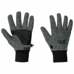 Grijze Jack Wolfskin Stormlock Knit Glove Unisex Handschoenen - Phantom - Maat S