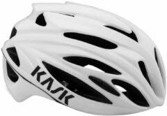 Witte KASK RaceRapido 2019 fietshelm, Unisex (dames / heren), Maat M, Fietshelm,