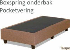 Boxspring.nl - Uw Bed Boxspringonderbak Pocketvering, 90 x 210, Taupe   Losse boxspring   Boxspring bedbodem   Boxspring onderstel   Pocketboxspring   Boxspring zonder matras