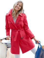 Rode Inspirationen trenchcoat in trendy kleurstelling