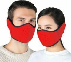 Premium Commerce Mondkapje Wasbaar - Mondmasker - Facemask - Oorverwarmer - Ski Masker - Herbruikbaar - Rood