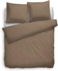 Heckettlane HnL Living Satin Stripe - Dekbedovertrek - Litsjumeaux extra breed - 260 x 200/220 cm - Goud