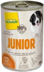 Ecostyle Blik Vitaal Vlees Junior - Hondenvoer - 400 g