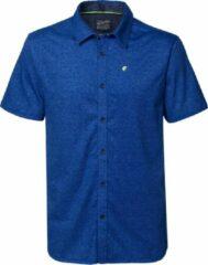 Petrol Industries - Heren Gemêleerd overhemd met korte mouwen - Blauw - Maat M