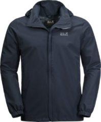 Blauwe Jack Wolfskin Stormy Point Jacket M Outdoorjas Heren - Night Blue - Maat M