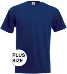 Marineblauwe Fruit of the Loom Grote maten basic navy blauw t-shirt voor heren - voordelige katoenen shirts 3XL (46/58)