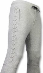 Grijze Trainingsbroek Enos Casual Joggingbroek - Braided Joggingbroek