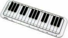 AIM Liniaal pianotoetsen 15 cm