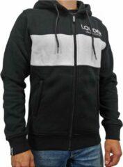Loud and Clear LOUDER Winter Hoodie Heren Zwart Wit - Sweater Heren - Winter Vest Heren - Trui Heren - Met Rits - Met Capuchon - Maat XL