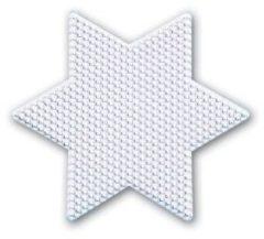 Witte Hama Strijkkralen Grondplaat Ster Groot