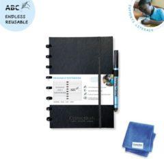 Correctbook A5 Premium Hardcover: uitwisbaar / herbruikbaar notitieboek, gelijnd, zwart