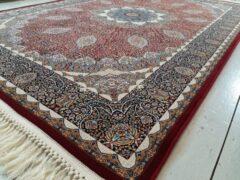 Marineblauwe Susa Homedeco Erika Red - Perzisch Tapijt - Authentiek Perzisch vloerkleed - 150cm x 225cm