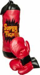 Lg-imports Super Fighter Bokszak Met 2 Handschoenen Rood 40 Cm